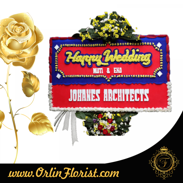 bunga happy wedding di bandung