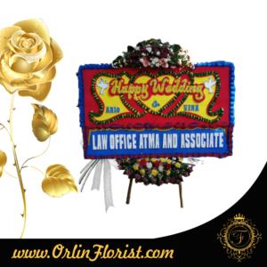 toko bunga papan happy wedding di bogor