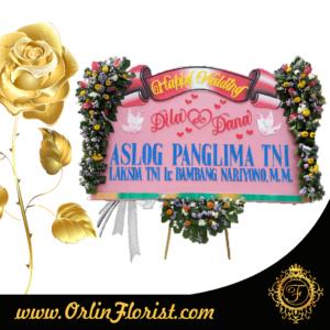 toko bunga papan happy wedding di surabaya