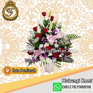 bunga meja bunga mawar di pontianak