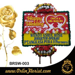 bunga papan pernikahan di brebes