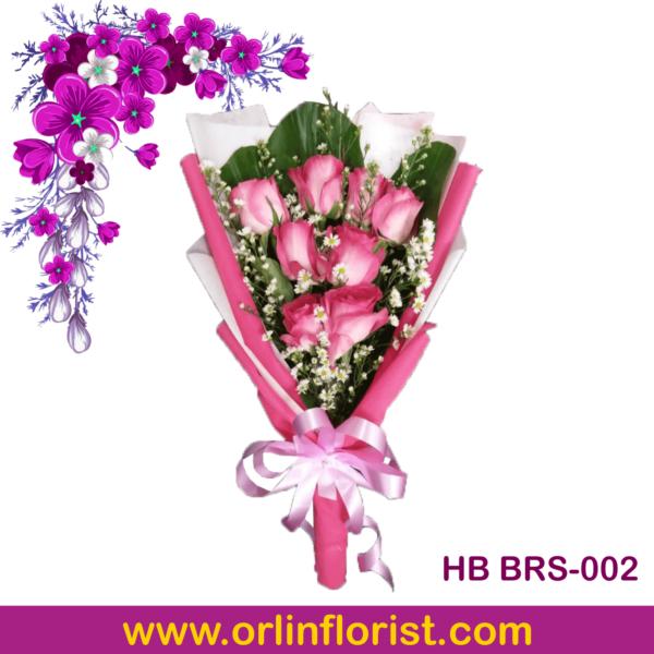 rangkaian bunga buket mawar di brebes