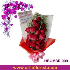 hand bouquet jember 20 tangkai bunga mawar merah