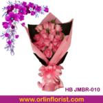 buket bunga mawar pink di jember