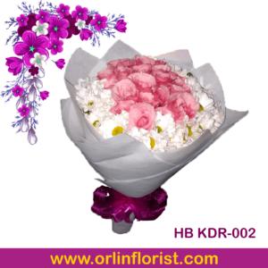rangkaian bunga handbouquet di kediri