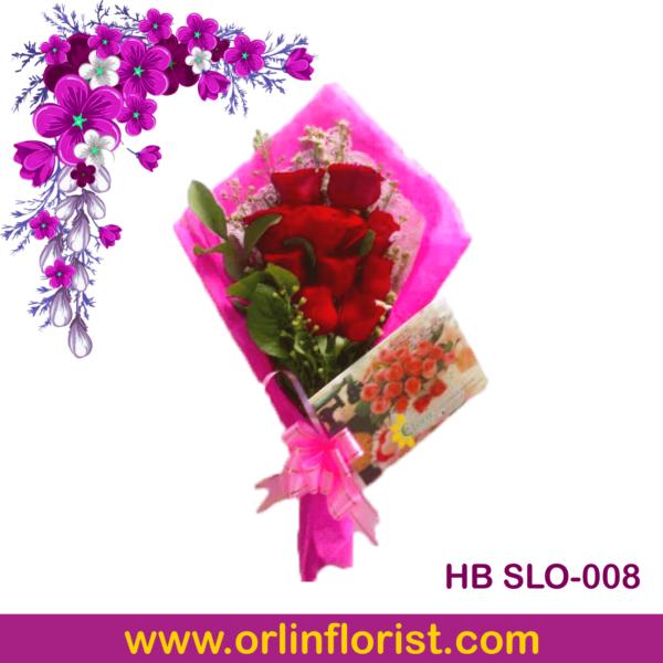 hand bouquet bunga mawar di solo