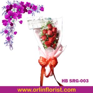 bunga buket mawar di sragen