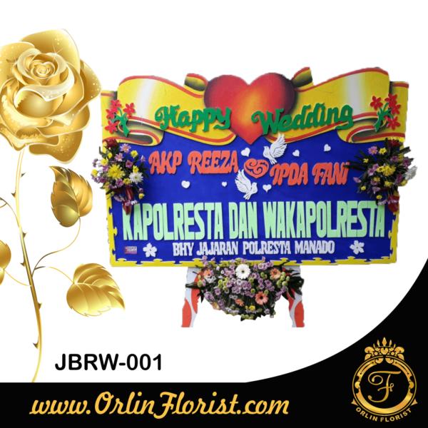 bunga papan happy wedding di jember