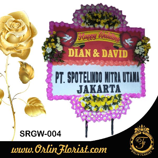 bunga papan pernikahan di sragen