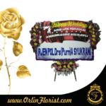 Bunga papan pernikahan di purwokerto