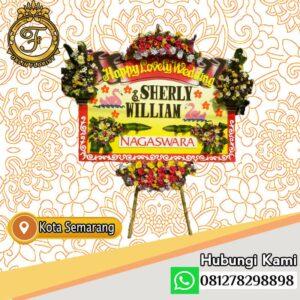 Bunga Papan Happy Wedding Semarang SML-27
