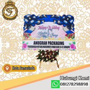bunga papan happy wedding samarinda