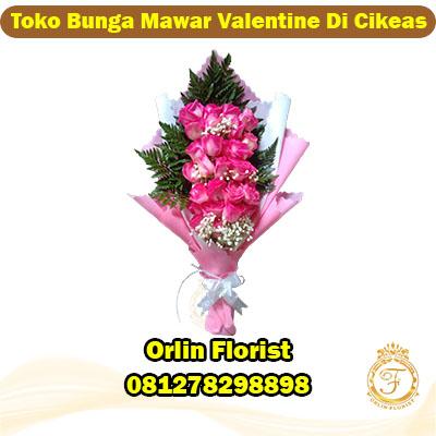 toko bunga mawar valentine di cikeas