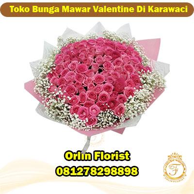 toko bunga mawar valentine di karawaci