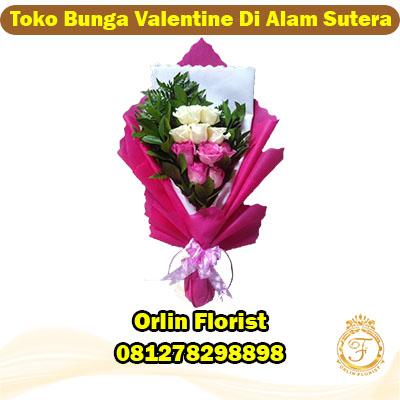 toko bunga valentine di alam sutera