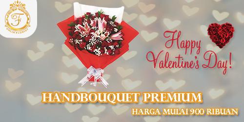 banner hand bouquet premium valentine orlin