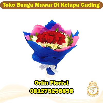 toko bunga mawar di kelapa gading