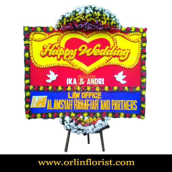 Karangan Bunga Papan Wedding OJKTW-001