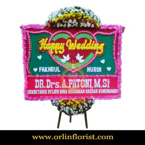 Karangan Bunga Papan Wedding OJKTW-002