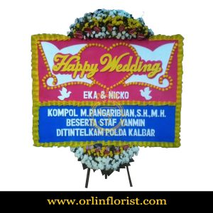Karangan Bunga Papan Wedding OJKTW-003