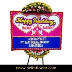 Karangan Bunga Papan Wedding OJKTW-004