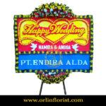 Karangan Bunga Papan Wedding OJKTW-005