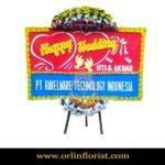 Karangan Bunga Papan Wedding OJKTW-006