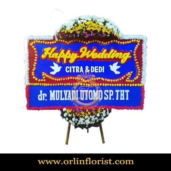 Karangan Bunga Papan Wedding OJKTW-007