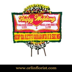 Karangan Bunga Papan Wedding OJKTW-008