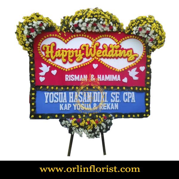 Karangan Bunga Papan Wedding OJKTW-010