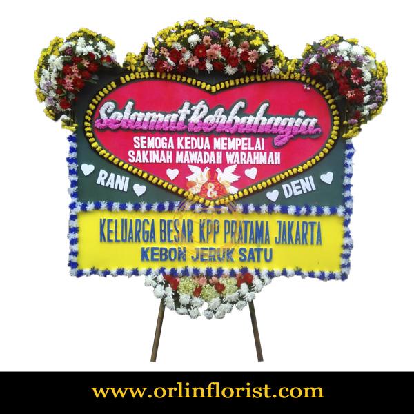 Karangan Bunga Papan Wedding OJKTW-011