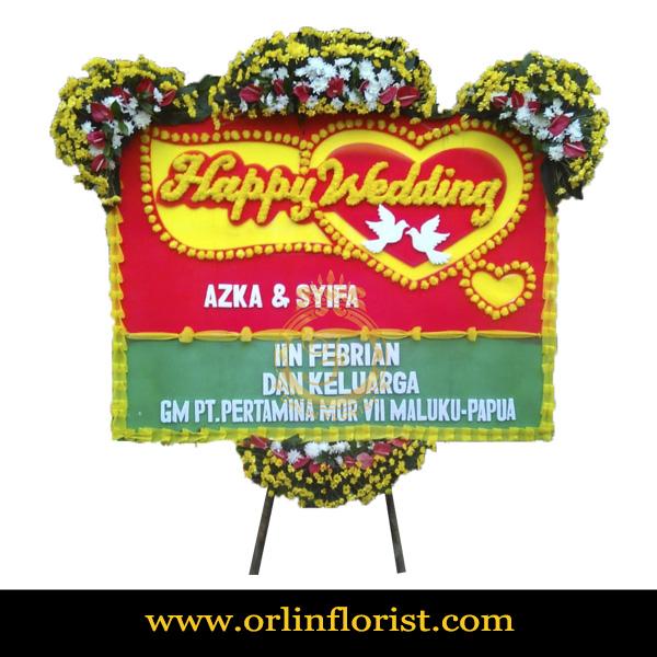 Karangan Bunga Papan Wedding OJKTW-013