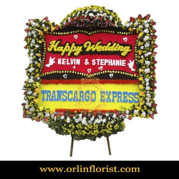 Karangan Bunga Papan Wedding OJKTW-015