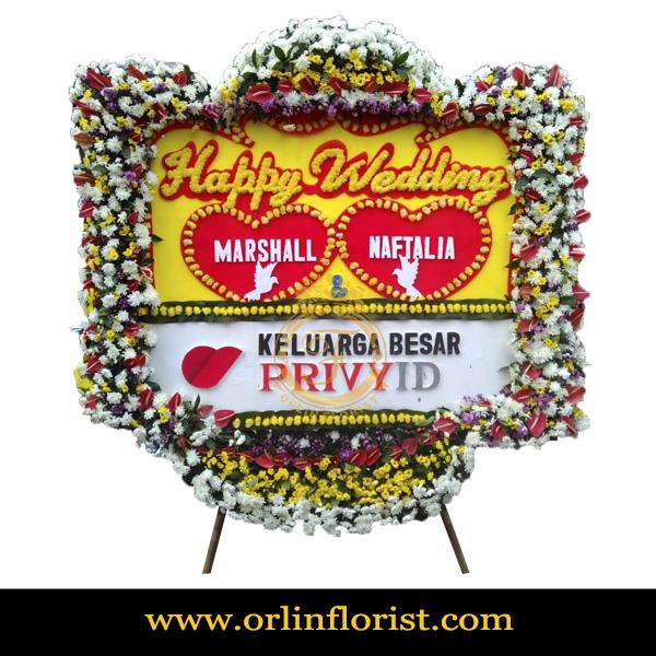 Karangan Bunga Papan Wedding OJKTW-016