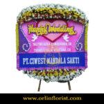 Karangan Bunga Papan Wedding OJKTW-017