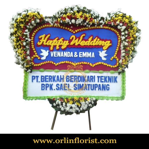 Karangan Bunga Papan Wedding OJKTW-019