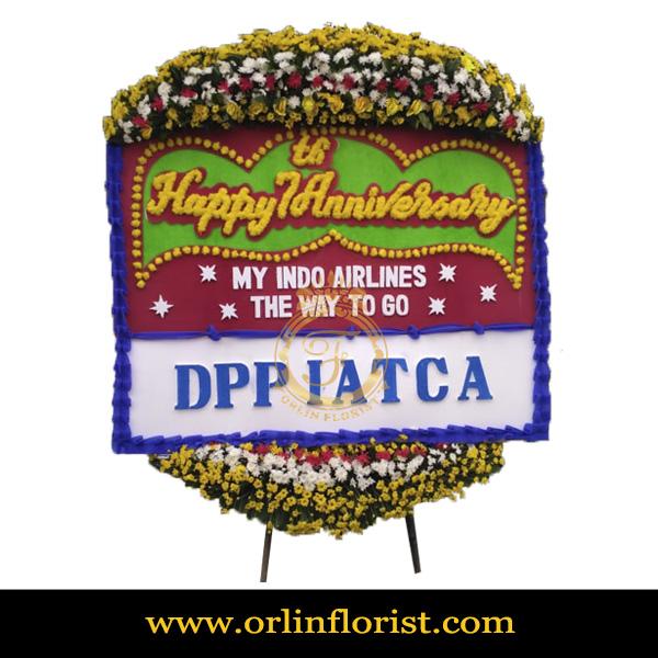 Karangan Bunga Papan Wedding OJKTW-020
