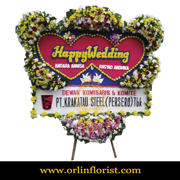Karangan Bunga Papan Wedding OJKTW-021