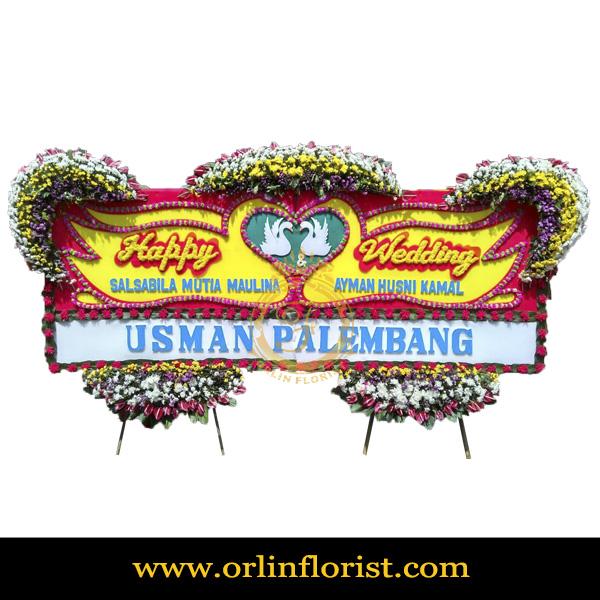 Karangan Bunga Papan Wedding OJKTW-023