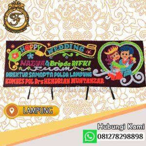 Bunga Papan Happy Wedding Lampung LMP-010