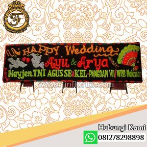 bunga papan pernikahan medan mdn-004