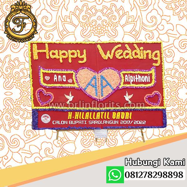 bunga papan wedding jambi JBI-02