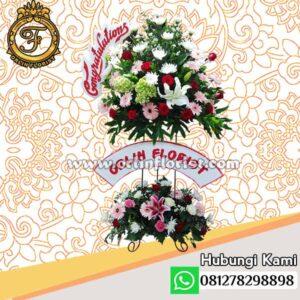 Standing flowers congratulations jakarta STC-003