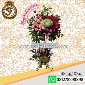 Standing flowers congratulations jakarta STC-005