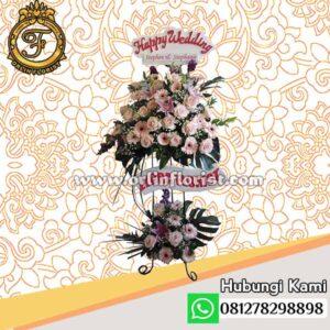 Standing flowers wedding jakarta stn-002
